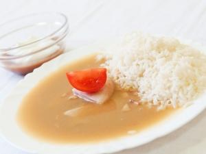 Budějovická pečeně, dušená rýže