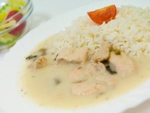Krůtí maso na houbách, rýže