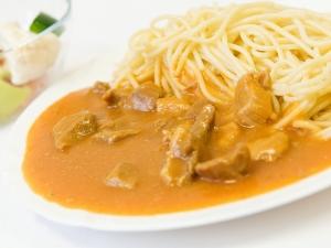 Plovdivské maso, špagety