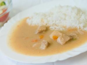 Poděbradské maso, rýže