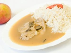 Roštěná na houbách, rýže