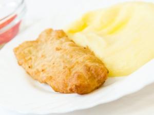 Smažená treska, bramborová kaše