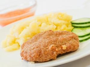 Soukenický řízek, brambory