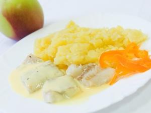 Treska v citronové omáčce, brambory