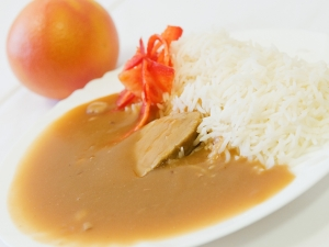 Vepřová kýta na šípkové omáčce, rýže