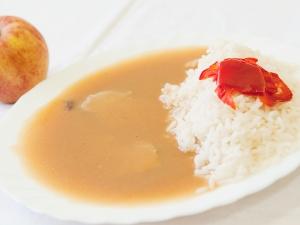 Vepřová pečeně na šípkové omáčce, rýže