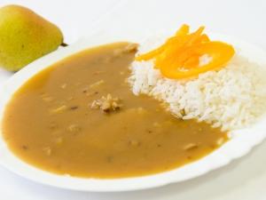 Vepřové po myslivecku, rýže