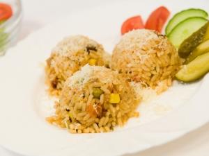 Zeleninové rizoto sypané parmezánem